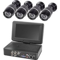 Analog Überwachungskamera-Set 4-Kanal mit 4 Kameras...