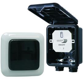 Home Easy Funk Lichtschalter kabellos + Außenwandschalter 1000W HE834S  Outdoor