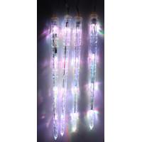 4 LED XL Eiszapfen Farbwechsel Weihnachtsbeleuchtung Lichterkette OUTDOOR AUSSEN