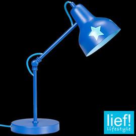 Schreibtischlampe Retro Vintage Sterne shabby Junge Kinderzimmer Leselampe Lampe