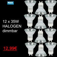 12 x Halogen Birnen 35W GU10 DIMMBAR 230V Hochvolt...