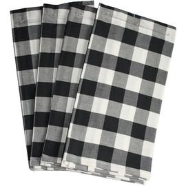 10 x 4 Mitteldecken 65x65cm Geschirrtücher Gastro Handtücher Schwarz weiß Karo