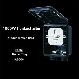 ELRO Home Easy Funk Schaltkasten HE866 Außenbereich 1000W Schalter Outdoor IP44