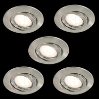 5 x LED Einbaulampen Leuchtmittel austauschbar...