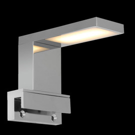 LED Spiegellampe CHROM Spiegel Lampe Flur Bad Badezimmerschrank IP44  Aufbaulampe