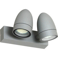 LED Aussenwandlampe ALUMINIUM Wandlampe schwenkbar doppel...