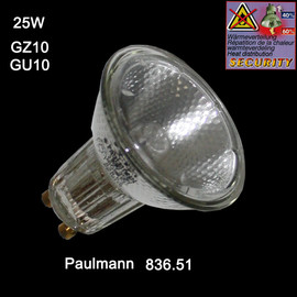 Paulmann 836.51 Halogen Reflektor Birne 25W 230V dimmbar GU10 Security GZ10