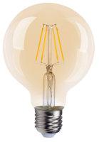 LED Filament Globe G95 4W =30W E27 gold gelüstert...