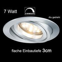 Paulmann 7W Alu Einbaulampen dimmbar Einbauleuchten 230V...