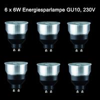 6 x Paulmann 6W Energiesparlampe GU10 Sparlampe 230V Spot...
