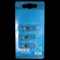 3er Set Nice Price 3704 Halogenbirne 40W 230V Halogen...