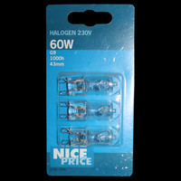 3er Set Nice Price 3706 Halogenbirne 60W 230V Halogen...