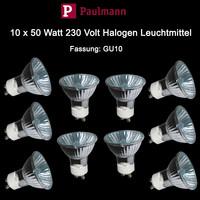 Paulmann 10 x 50 Watt Hochvolt Halogen 230V Reflektor...