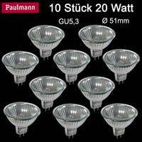 10 x Paulmann Halogen Reflektor Birne 20W Gu5.3...