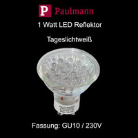 Paulmann 1 Watt LED Reflektor GU10 230V TAGESLICHT -...