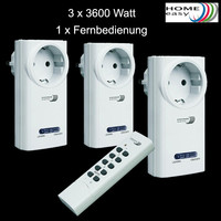 Home Easy 3 x Funksteckdosen 3600 Watt + 1 x...