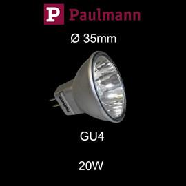 Paulmann 20W Akzent Ø 35mm kleiner Halogen Reflektor Alu silber GU4 dimmbar flood 30°