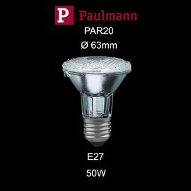 Paulmann 229.50 Halogen Alu Reflektor PAR 20 50W E27 230V 65mm Klar dimmbar