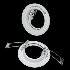 6 x Einbaustrahler Loch 55 mm Ø Einbaurahmen Einbauring Einbauleuchten weiß