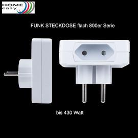 Home Easy flache Funksteckdose 460W HE800 Funk Steckdose Eurostecker