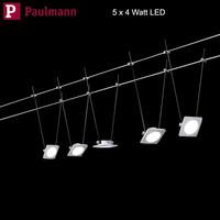 Paulmann LED Seilsystem 5 x 4W Quad Warmweiß Seil...