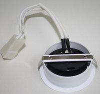 Flache Einbaustrahler Weiß  20W Halogenleuchtmittel 12V  Geringe Einbautiefe Möbel