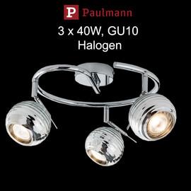 Paulmann SIGMA Halogen Deckenlampe  verstellbar schwenkbar CHROM dimmbar Retro