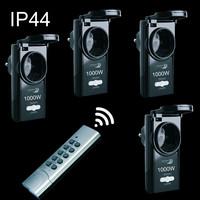 4 Außen Funk Steckdosen IP44 Outdoor AN / AUS...