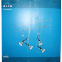 Komplett Seil System Seilsystem 4 X 4W LED Spots Strahler...