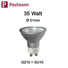 Paulmann 836.01 Alu  AKZENT Halogen Reflektor Birne dimmbar 35W 230V GZ10 + GU10