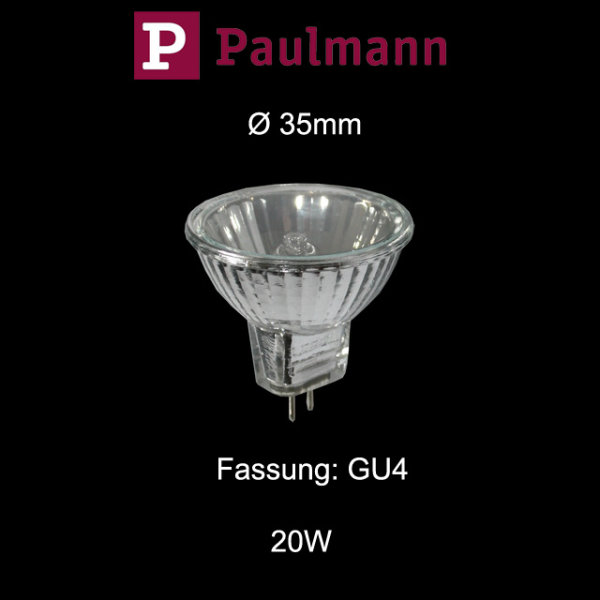 1 Stk.Paulmann AKZENT Ø 35mm kleine mini Halogen Reflektor Birne 20W GU4 dimmbar