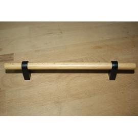 Möblgriff 188mm / 128mm Buche / Schwarz Küche Griff Schrank Schublade Holzgriff