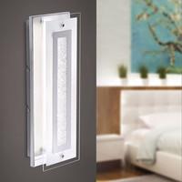 KISA  LED Wandleuchte chrom Glas mit Glasperleneffekt 7 Watt 650 Lumen
