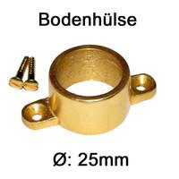Bodenhülse 25mm / 30mm ALU GOLD Rohrhalter Schrank...