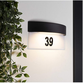 Hausnummernleuchte Wandlampe Hausnummer Tag/ Nacht Sensor Licht Hausnummer Lampe