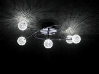 Halogen Deckenleuchte Bubblz chrom Deckenlampe 5armig...