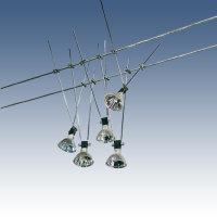 NICE PRICE 3049 Komplett-System Seilsystem Chrom, 105VA,...