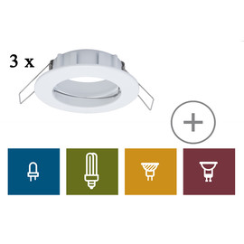 Easy Spot-Set Premium starr, Weiß, 3er Set 997.39 - 99739