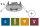 Nassraum, Feuchtraum Einbauleuchten IP65, starr,Eisen gebürstet, 3er Set 997.47 - 99747