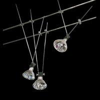 Komplett Seil System Seilsystem 3 X 20W Halogen Spots...
