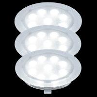 LED 3er Laminat Parkett Einbauleuchten-Set WASSERDICHT  IP67, 987.94