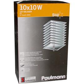Paulmann Starline Einbauleuchten Sternenhimmel, 10x10W Halogen Quadrat 985.34 - 98534 Mirror Carré