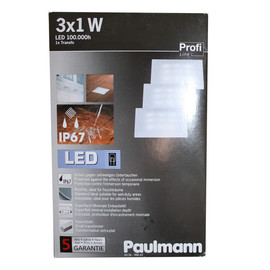 Paulmann 98862 Profi Line Einbauleuchten Updownlight Quadro Für Feuchträume Geeignet 3x1 W Led Laminat