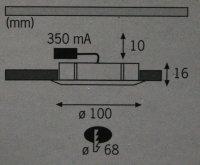 Paulmann 3x3Watt Power LED Möbel Einbauleuchten...
