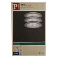 Paulmann 3er Set Möbel Einbauleuchten Micro Line Power LED Chrom matt 983.51 - 98351