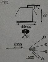 Paulmann 988.71 MINI LED Boden Einbauleuchten...