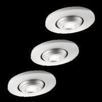 PHILIPS SMARTSPOT LED Einbauleuchten Set 3er Silber ,...