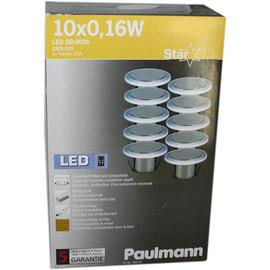 Paulmann Starline 10x0,16W LED Einbauleuchten SATURN Sternenhimmel, SATIN 988.90 - 98890