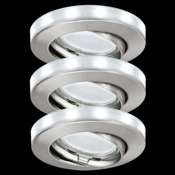 Paulmann 988.86 Einbauleuchten 3er Set LED Ring Sternenhimmel  98886