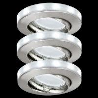 Paulmann 988.86 Einbauleuchten 3er Set LED Ring...